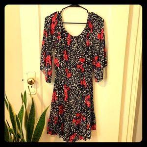 Gap floral off the shoulder summer dress
